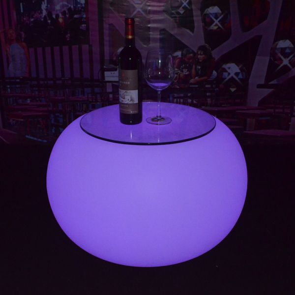CE ROHS Led Coffee Table With DMX Lighting Lounge Round Table For Club - ROHS Led Coffee Table With DMX Lighting Lounge Round Table For Club