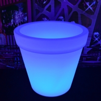 LED furniture led illuminated plastic flower pot led flower pot KFP-6265
