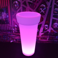 LED remote control planter pot plastic led light flower pot KFP-4895