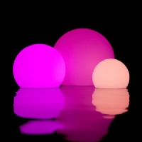 Plastic rechargeable LED illuminated multi color ball light KB-3003