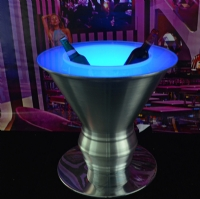 RGB Color LED Plastic Stainless Steel Ice Bucket KFP-5450