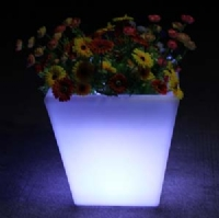RGB waterproof IP65 planter pot plastic LED light flower pot KFP-3840
