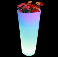 Rechargeable LED glowing flower pot outdoor luminous led planter pots KFP-4093