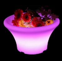 Rechargeable RGB color planter waterproof light up led flower pot KFP-3016