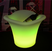 Rechargeable waterproof color changing glowing led flower planter KFP-4232