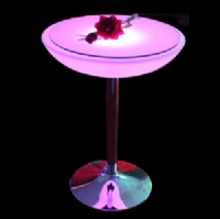 Rechargeable waterproof stainless steel led furniture led club table KFT-6093